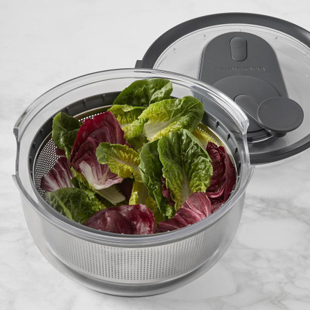 Williams Sonoma Stainless Steel Salad Spinner