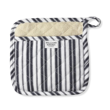 Williams Sonoma Striped Potholder, Navy Blue