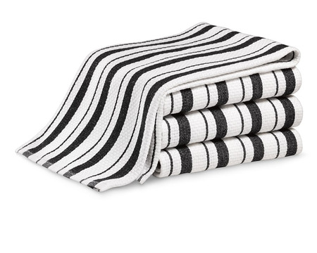 Williams Sonoma Striped Tea Towels, Set of 4, Jet Black