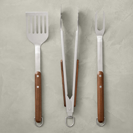 Williams Sonoma Walnut Barbecue Tools, Set of 3
