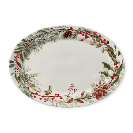Woodland Berry Oval Serving Platter