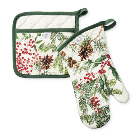 Woodland Berry Oven Mitt & Potholder Set