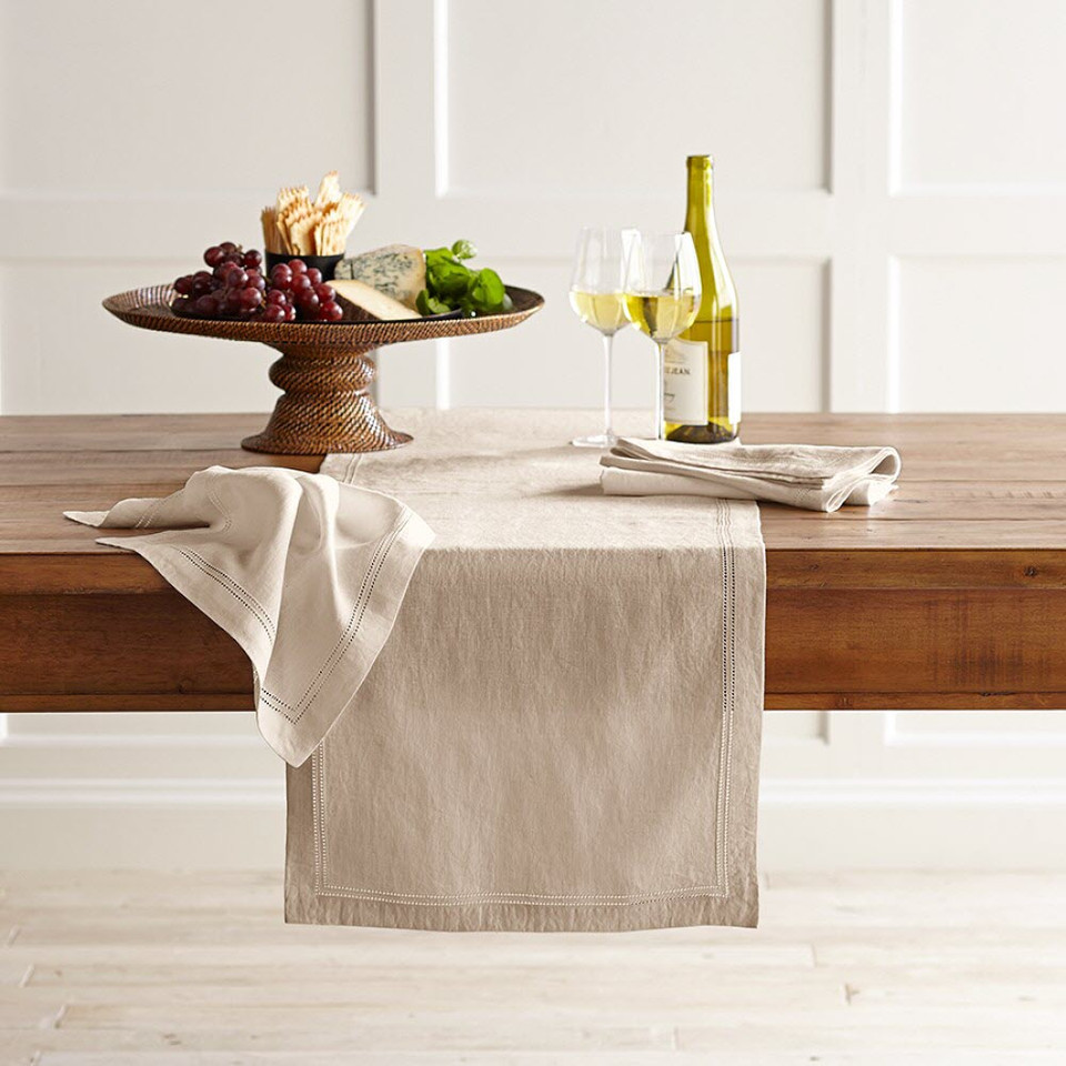 Linen Double Hemstitch Linens Collection