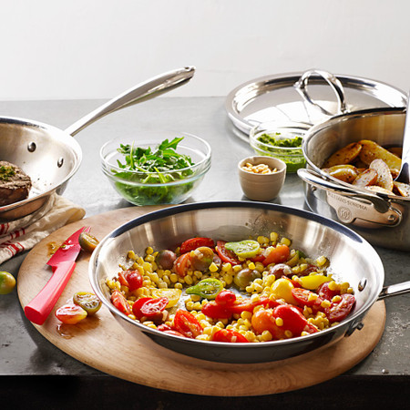 Williams Sonoma Thermo-Clad™ Stainless-Steel Frying Pan