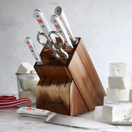 Wüsthof Classic 7-Piece Knife Block Set, White