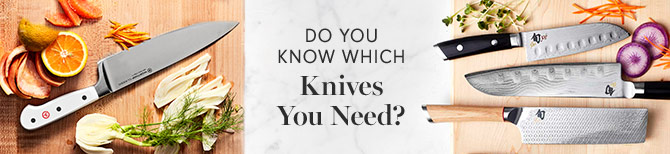Do You Know Which Knives You Need? | Cookware Guide